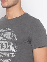 Load image into Gallery viewer, Globus Charcoal Printed T-Shirt-5
