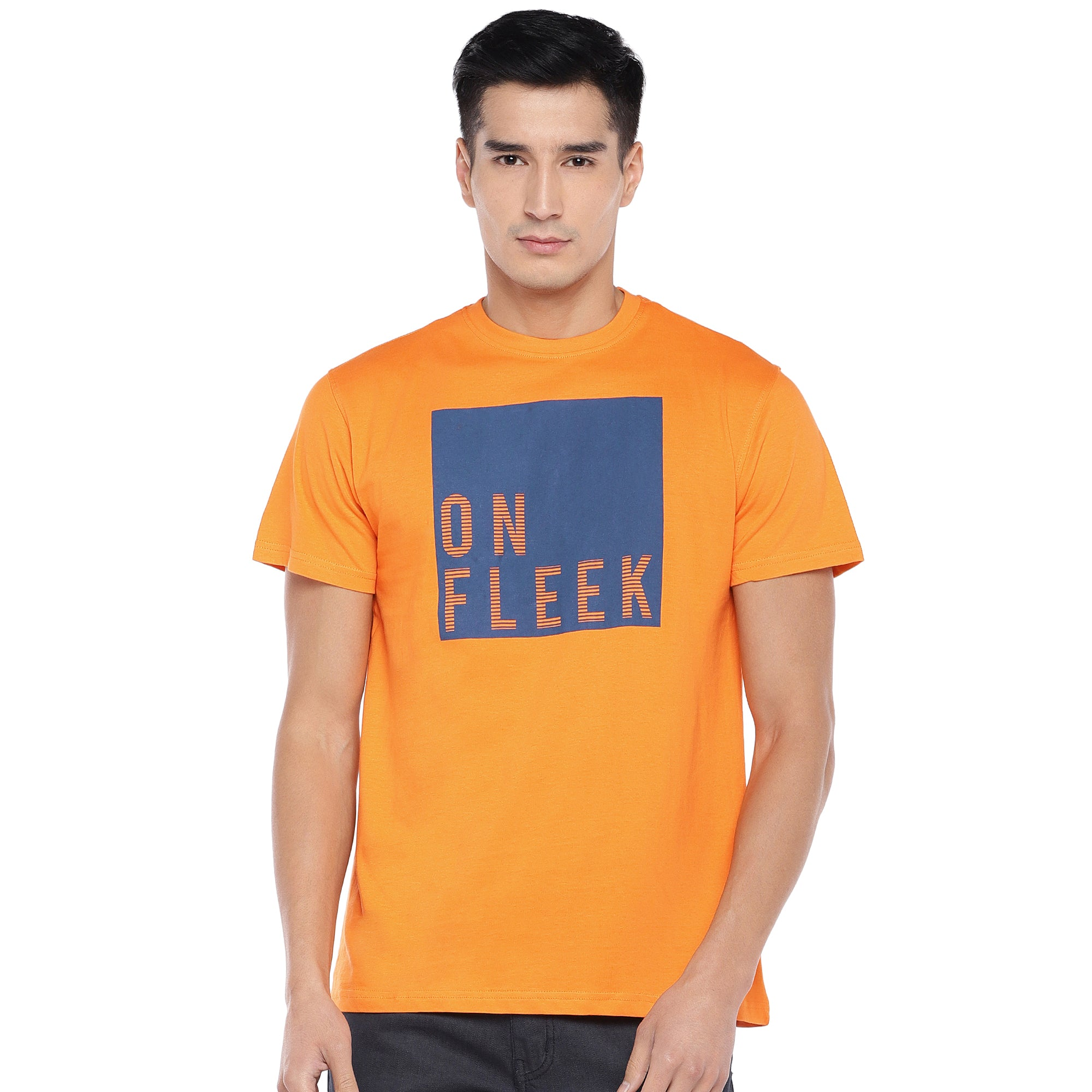 Orange Printed T-Shirt-1