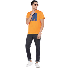 Load image into Gallery viewer, Orange Printed T-Shirt-4