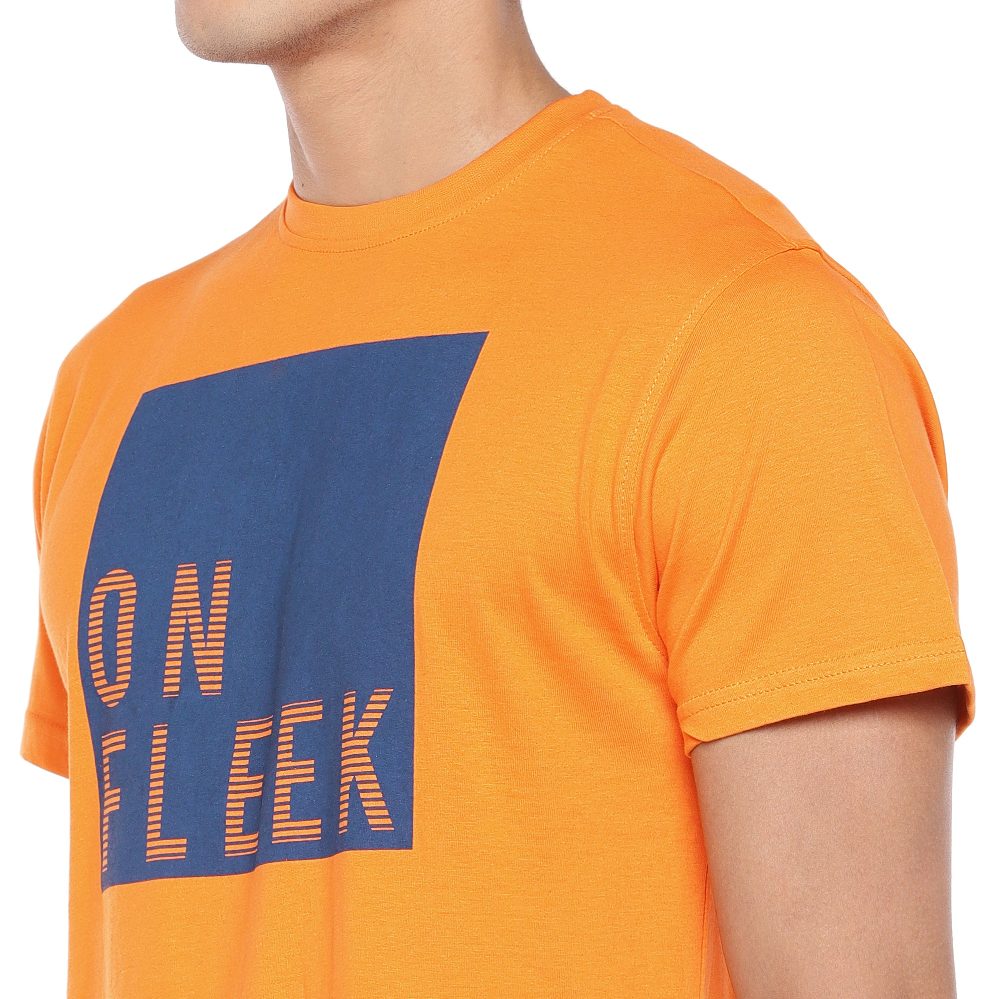 Orange Printed T-Shirt-5