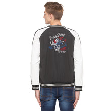 Load image into Gallery viewer, Black Colorblocked Bomber Jacket-3