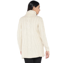 Load image into Gallery viewer, Off White Self Design Pea Coat-3