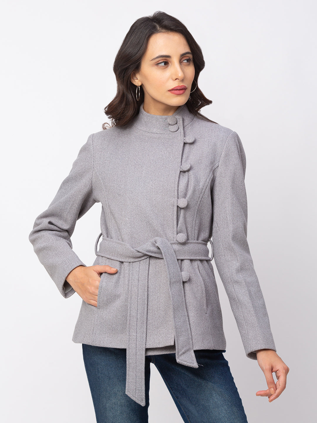 Globus Denim Striped Coat-1