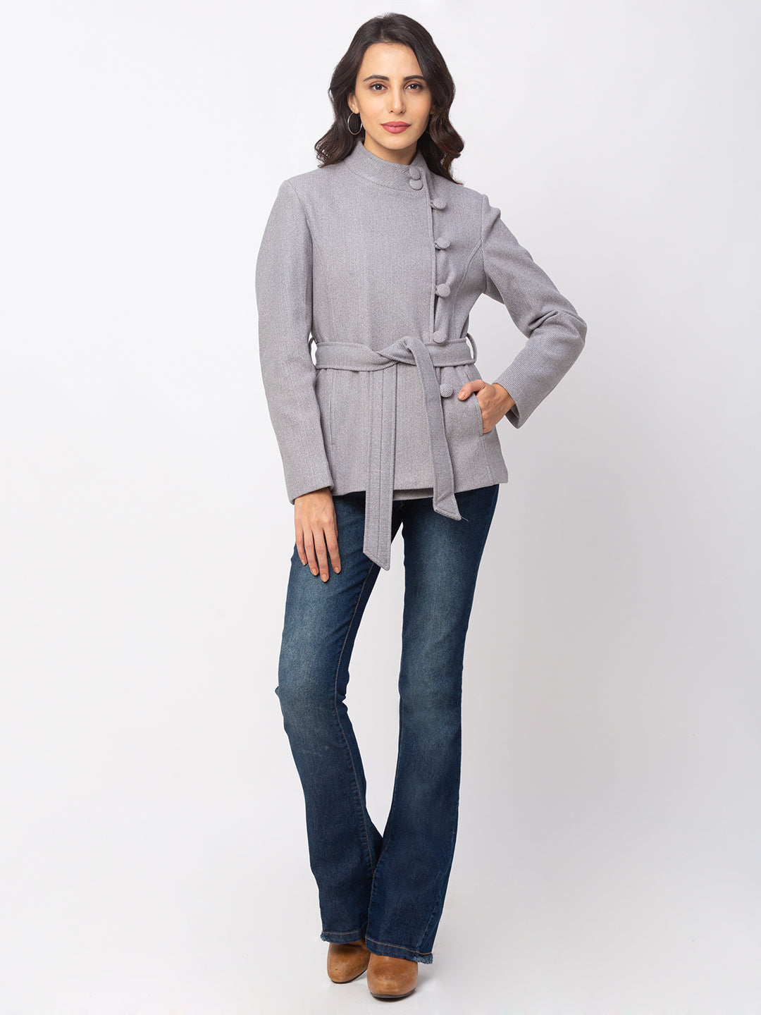 Globus Denim Striped Coat-2