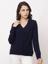 Load image into Gallery viewer, Globus Blue Solid Cardigan-1