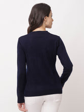 Load image into Gallery viewer, Globus Blue Solid Cardigan-3