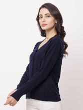 Load image into Gallery viewer, Globus Blue Solid Cardigan-2