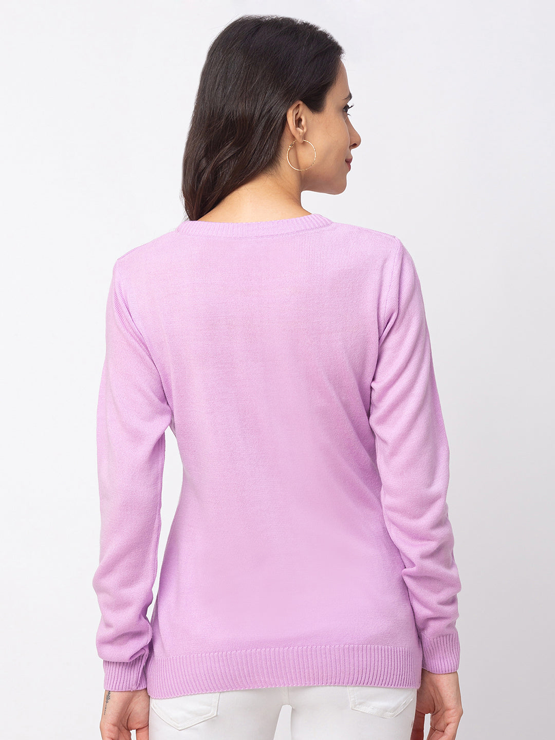 Globus Lilac Solid Sweater-3