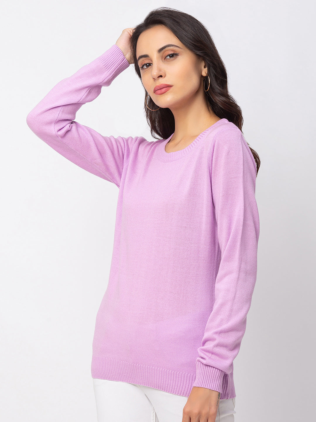 Globus Lilac Solid Sweater-2
