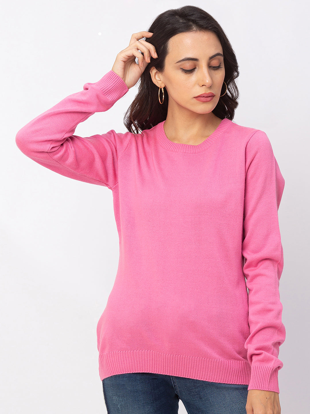 Globus Bubblegum Solid Sweater-1