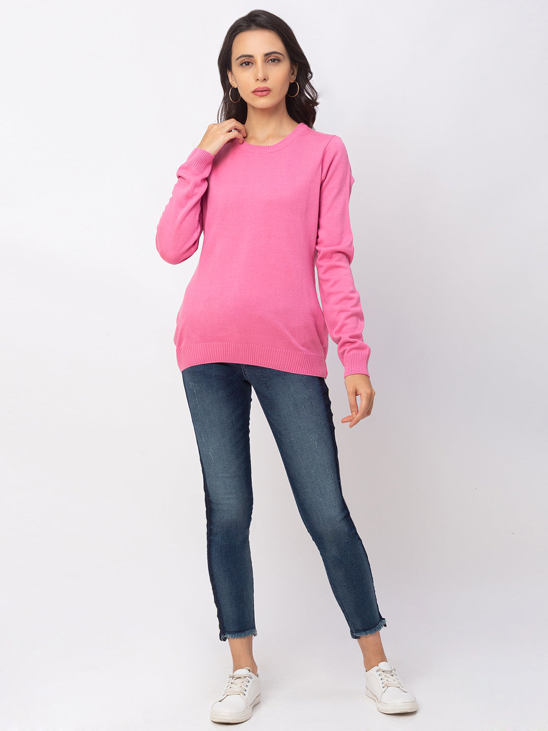 Globus Bubblegum Solid Sweater-5