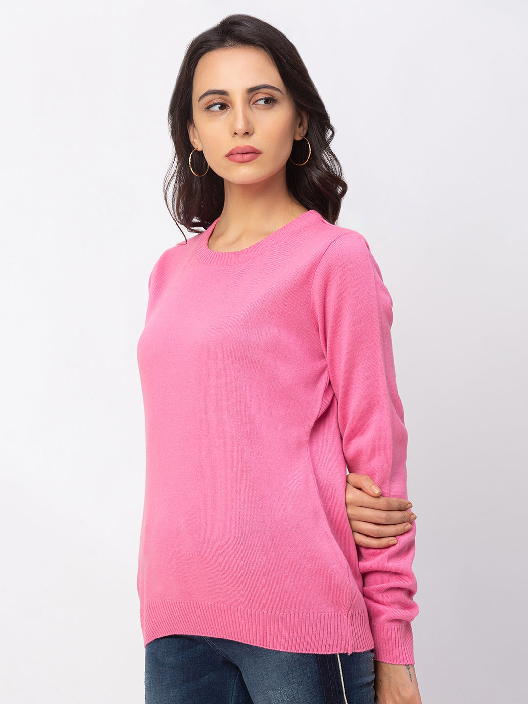 Globus Bubblegum Solid Sweater-2