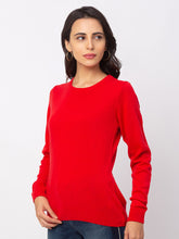 Load image into Gallery viewer, Globus Red Solid Sweater-2