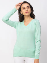 Load image into Gallery viewer, Globus Turquoise Solid Sweater-1