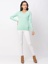 Load image into Gallery viewer, Globus Turquoise Solid Sweater-5