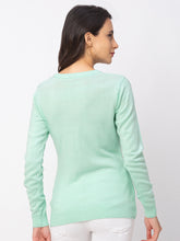 Load image into Gallery viewer, Globus Turquoise Solid Sweater-3