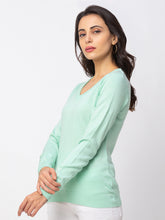 Load image into Gallery viewer, Globus Turquoise Solid Sweater-2