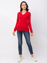 Load image into Gallery viewer, Globus Red Solid Sweater-5