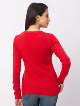 Load image into Gallery viewer, Globus Red Solid Sweater-3