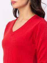 Load image into Gallery viewer, Globus Red Solid Sweater-4