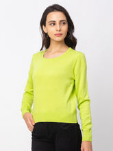 Load image into Gallery viewer, Globus Lime Solid Sweater-4