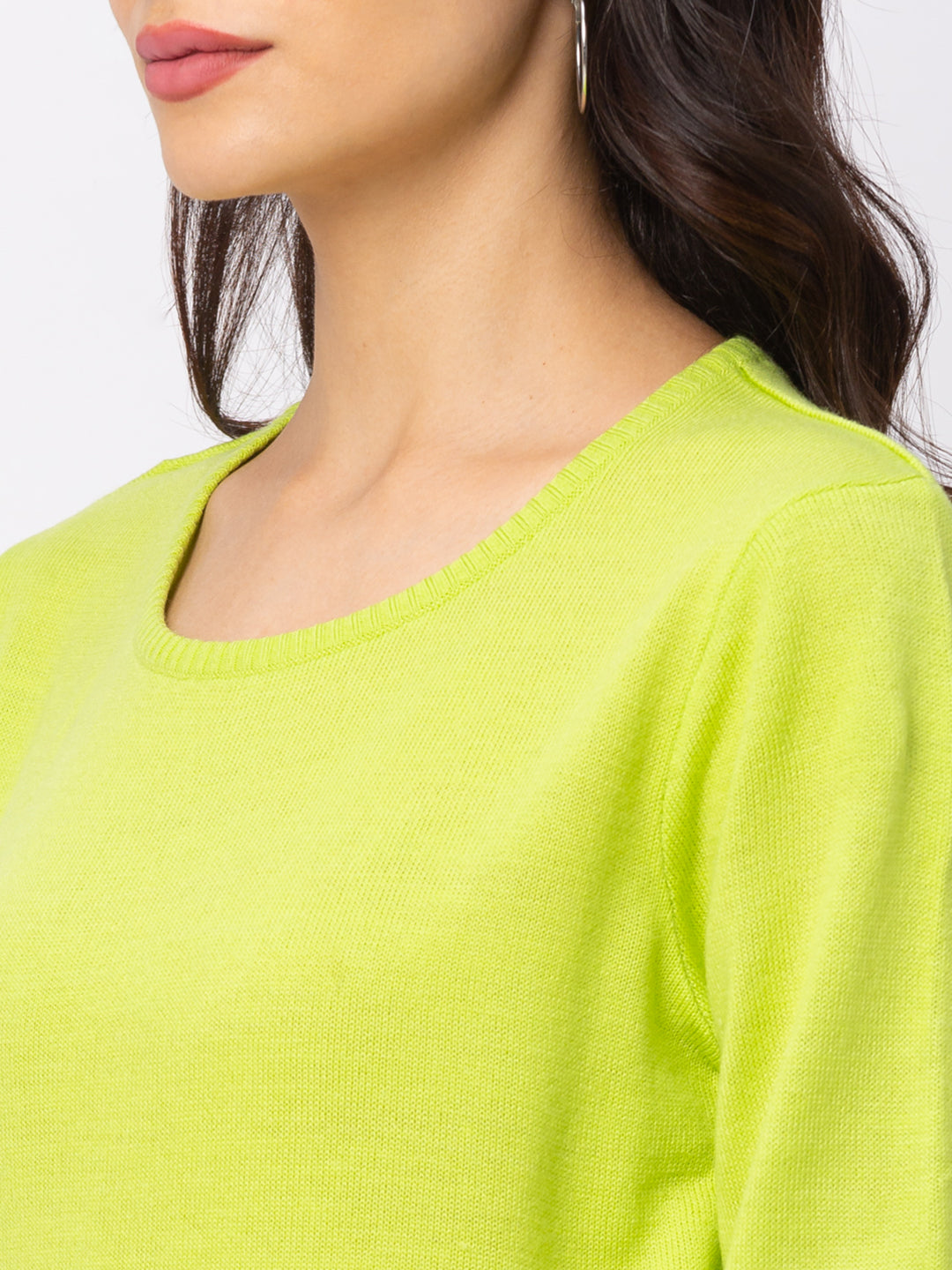 Globus Lime Solid Sweater-5