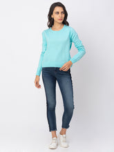 Load image into Gallery viewer, Globus Blue Solid Sweater-2