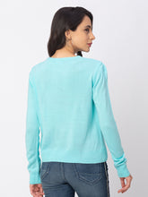 Load image into Gallery viewer, Globus Blue Solid Sweater-3
