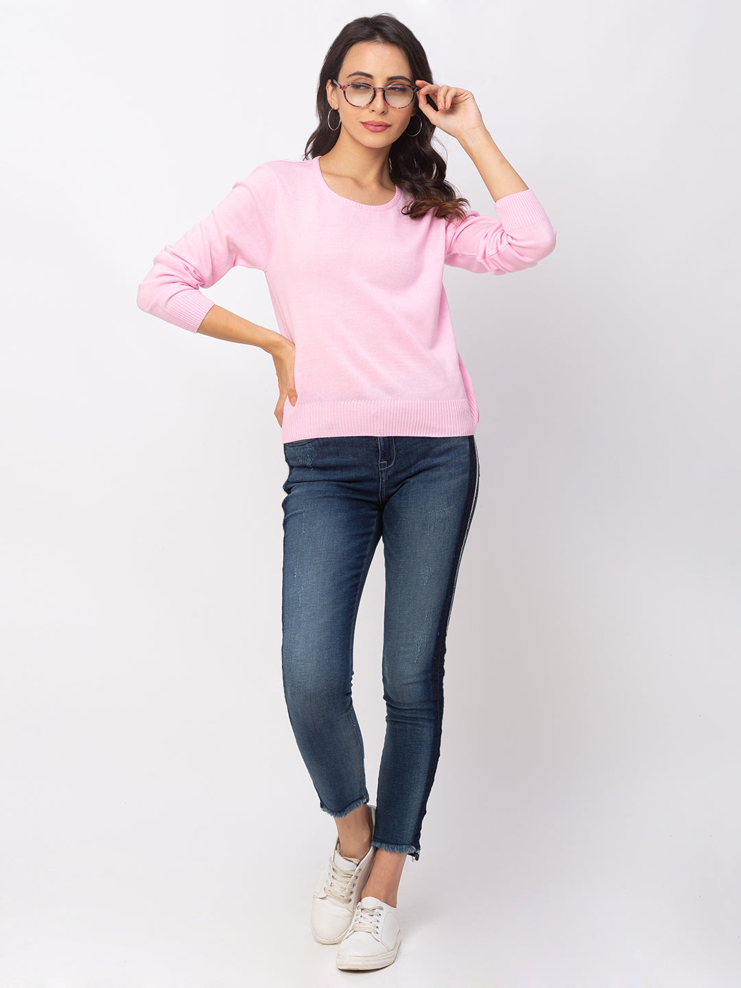 Globus Pink Solid Sweater