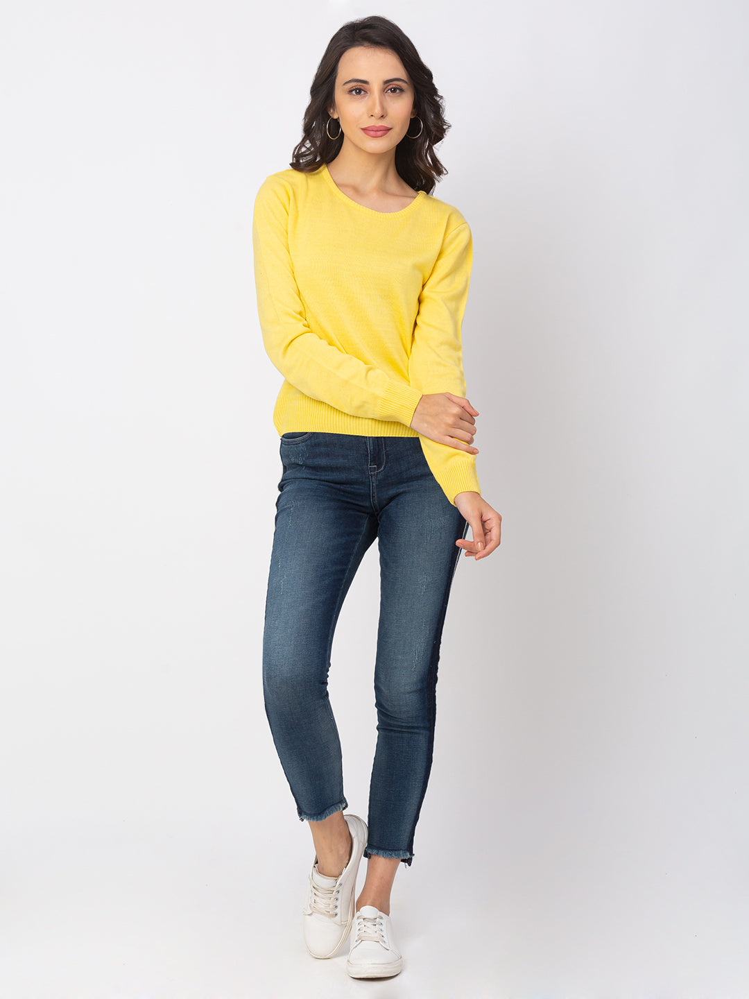 Globus Lemon Solid Sweater-2