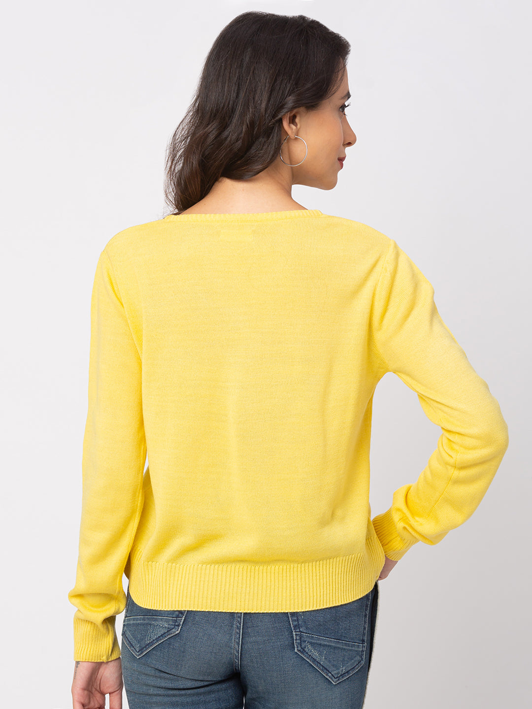 Globus Lemon Solid Sweater-3