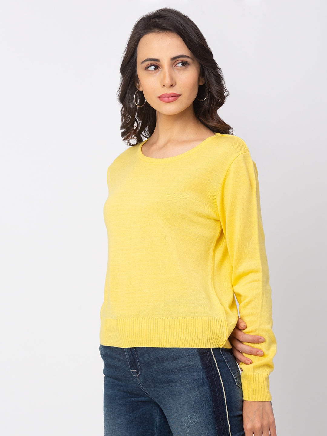 Globus Lemon Solid Sweater-4