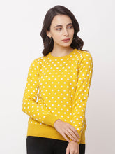 Load image into Gallery viewer, Globus Yellow Round Neck Printed Sweatshirt-1