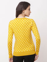Load image into Gallery viewer, Globus Yellow Round Neck Printed Sweatshirt-3