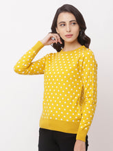 Load image into Gallery viewer, Globus Yellow Round Neck Printed Sweatshirt-4