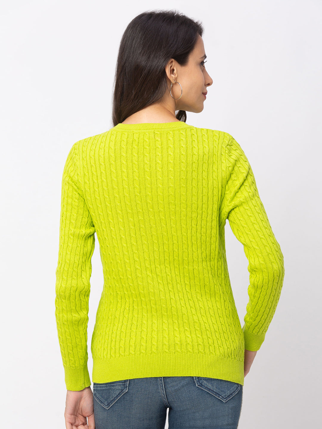Globus Lime Textured Sweater-3