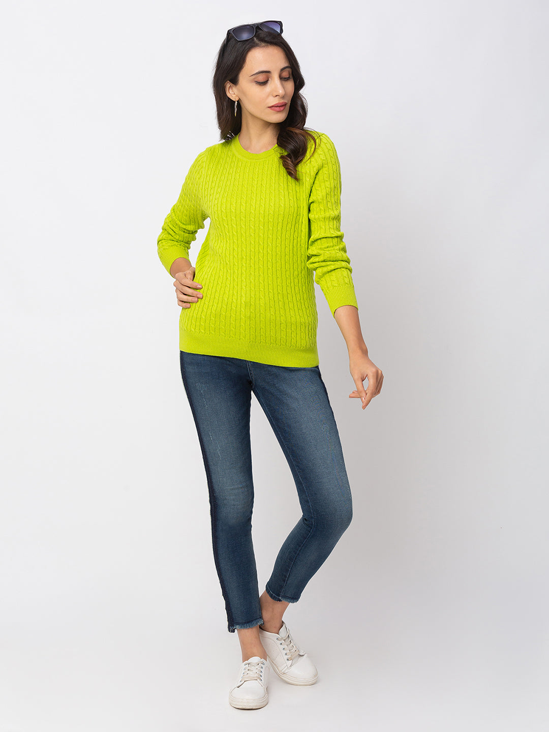 Globus Lime Textured Sweater