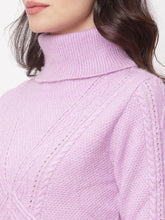 Load image into Gallery viewer, Globus Pink High Neck Self Design Sweatshirt-4