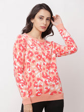 Load image into Gallery viewer, Globus Coral Round Neck Printed Sweatshirt-1