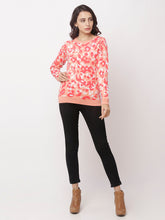Load image into Gallery viewer, Globus Coral Round Neck Printed Sweatshirt-2