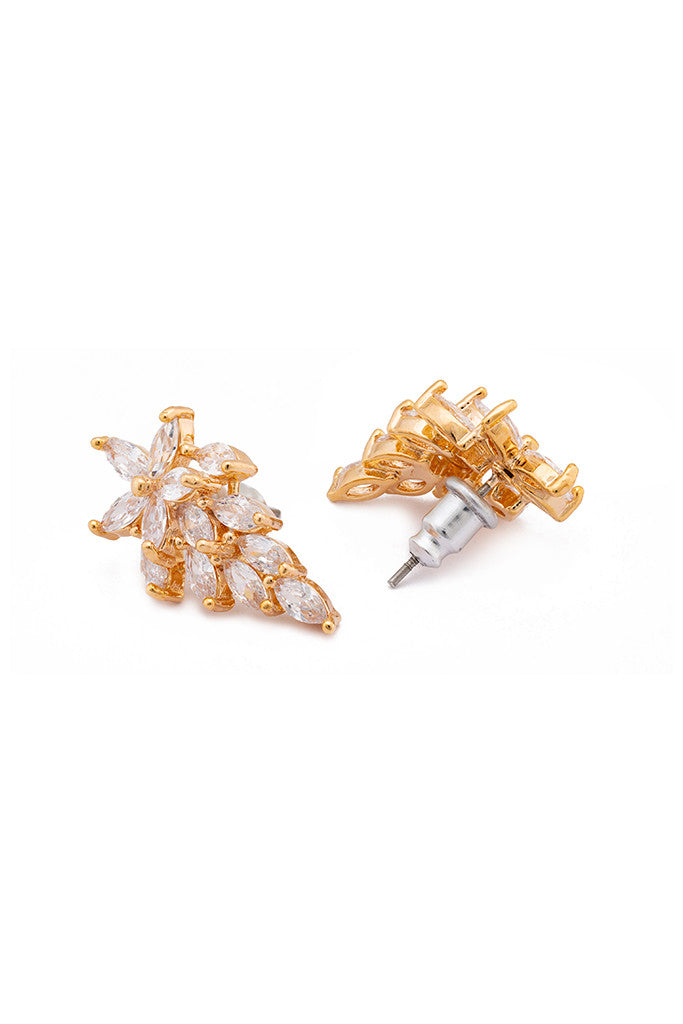Artificial Stone Dangling Stud Earrings-2