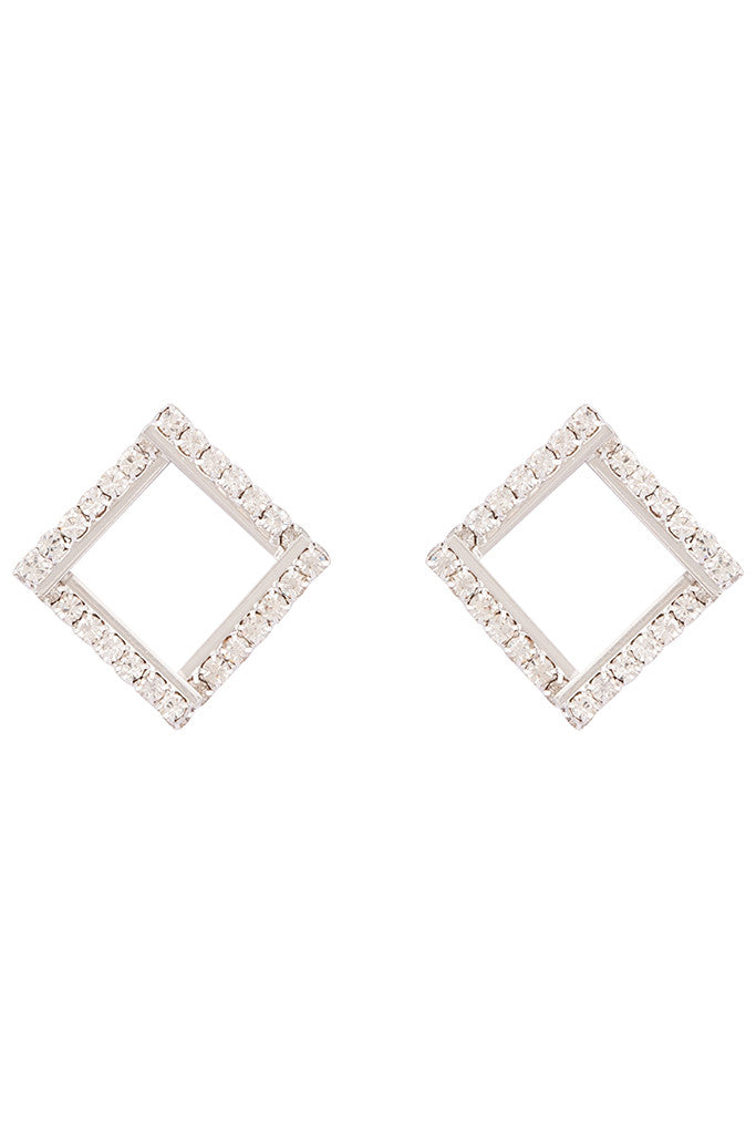 Artificial Stone Stud Earrings-1