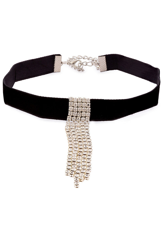 Stone Studded Choker Necklace-1