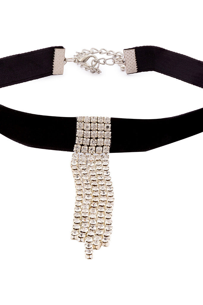 Stone Studded Choker Necklace-3