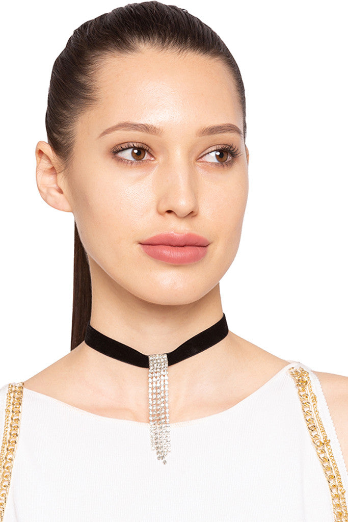 Stone Studded Choker Necklace-4