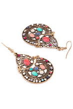 Load image into Gallery viewer, Stone Oxidised Chandbali Earrings-2