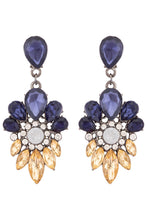 Load image into Gallery viewer, Stone Stud Dangling Earrings-1