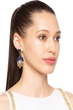 Load image into Gallery viewer, Stone Stud Dangling Earrings-3