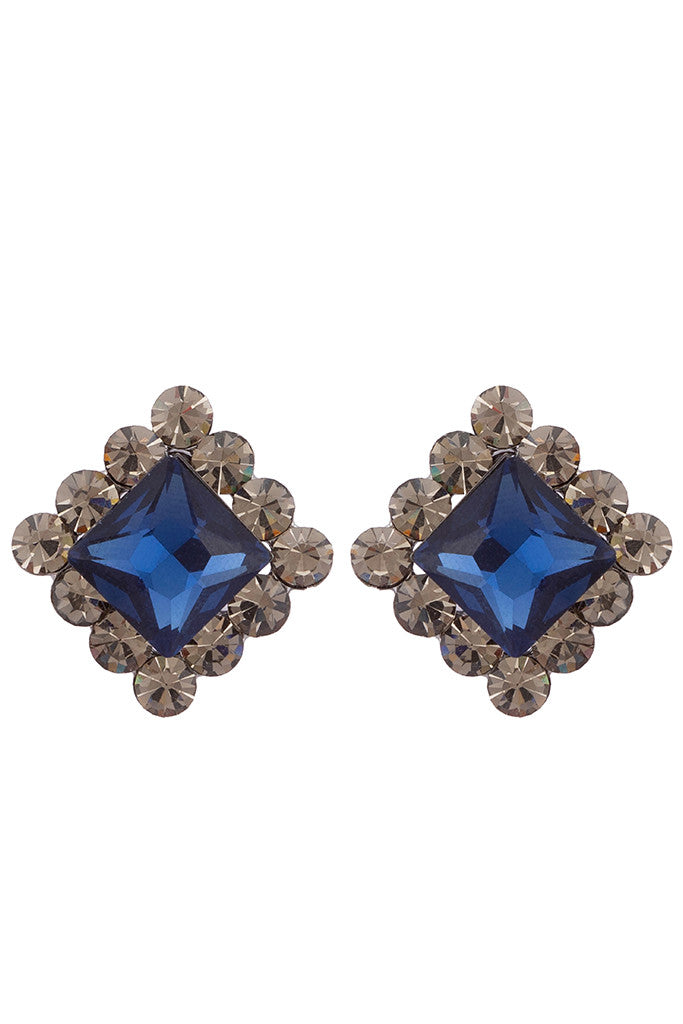 Stone Stud Earrings-1