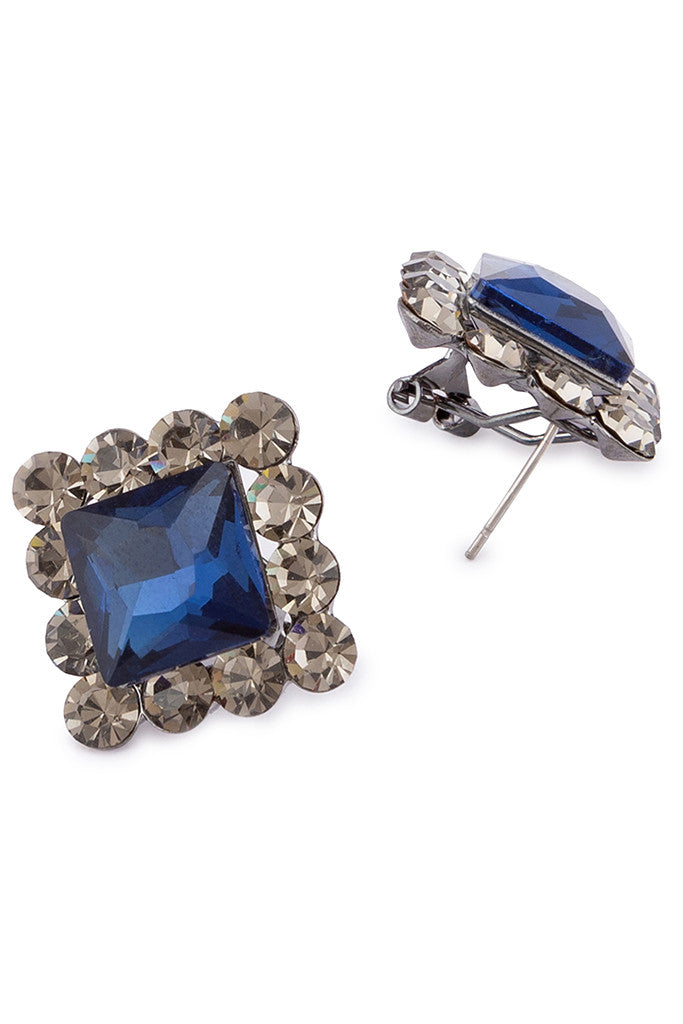 Stone Stud Earrings-2